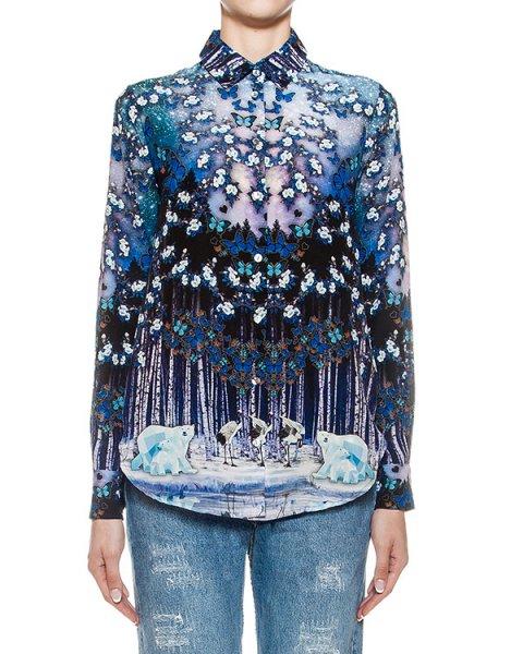 блуза из тонкого шелка с 3D рисунком артикул SH124CDC марки RARY купить за 16200 руб.