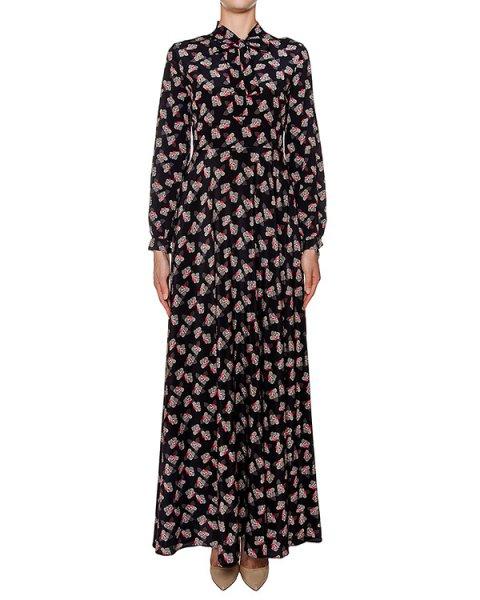платье в пол из легкого шелка с цветочным принтом артикул SHIZU721021 марки P.A.R.O.S.H. купить за 61100 руб.