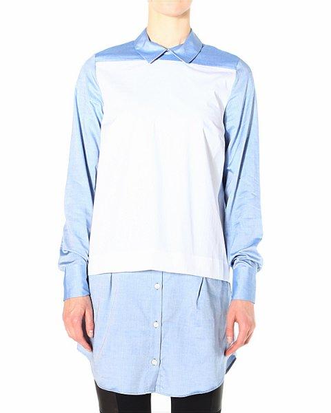 рубашка удлиненного кроя, с застежкой-молнией на спине артикул SHTPT197 марки Thakoon купить за 15200 руб.