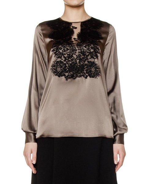 блуза из шелка, дополнено кружевом артикул SILSIX310210 марки P.A.R.O.S.H. купить за 14100 руб.