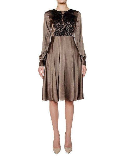 платье из шелка, дополнено кружевом артикул SILSIX721043 марки P.A.R.O.S.H. купить за 38200 руб.