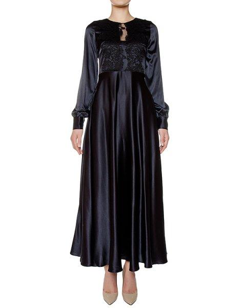платье в пол из шелка, дополнено кружевом артикул SILSIX721054 марки P.A.R.O.S.H. купить за 50100 руб.
