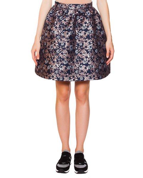 юбка из плотной ткани с цветочным принтом артикул SK0194 марки Markus Lupfer купить за 13200 руб.