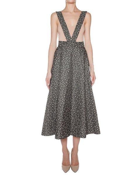 юбка из плотного хлопка с фактурным узором, дополнена широкими лямками артикул SK0489711 марки Graviteight купить за 33900 руб.