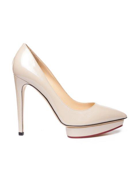туфли из натуральной глянцевой кожи на платформе артикул SM1405-IRD марки Semilla купить за 26300 руб.