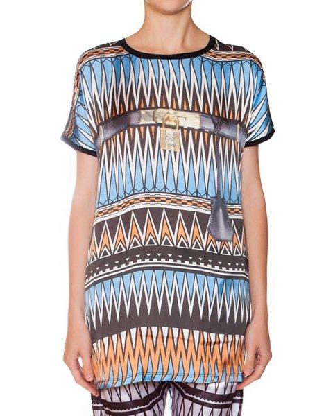 футболка из легкой ткани с геометрическим принтом артикул SMP11 марки Sweet Matilda купить за 4400 руб.