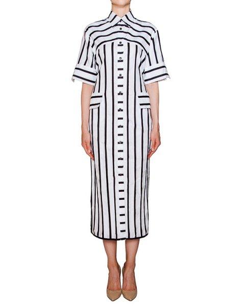 платье стилизованное под рубашку, из мягкого хлопка в полоску артикул SS16009 марки AVTANDIL купить за 24300 руб.