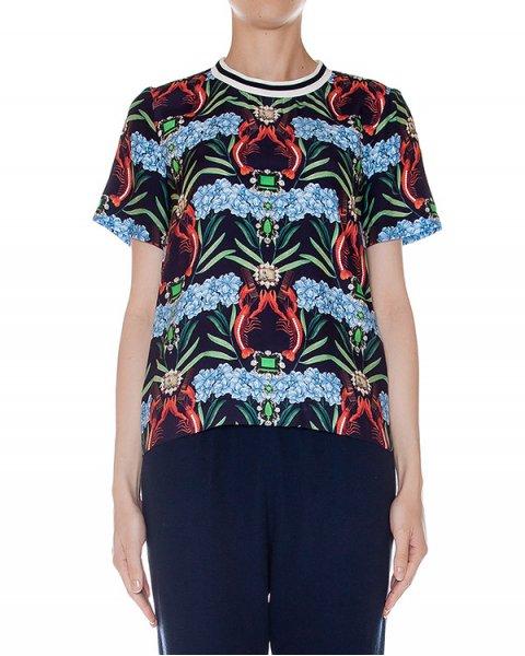 футболка из легкого шелка с абстрактным рисунком артикул SS163266 марки Mother of Pearl купить за 29800 руб.