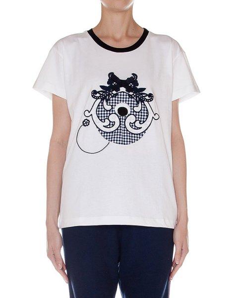 футболка из хлопкового трикотажа с вышивкой артикул SS163270 марки Mother of Pearl купить за 19800 руб.