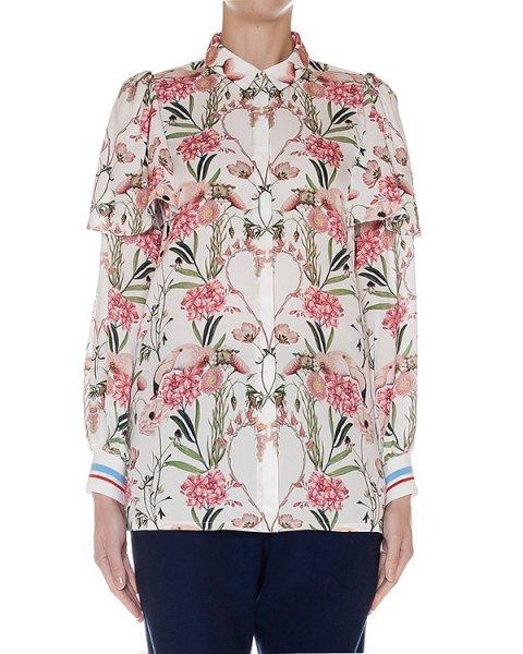 блуза из легкого шелка с цветочным рисунком артикул SS163337 марки Mother of Pearl купить за 44800 руб.