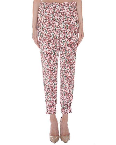 брюки свободного кроя из мягкого шелка с цветочным рисунком артикул SS164232C марки Mother of Pearl купить за 41600 руб.
