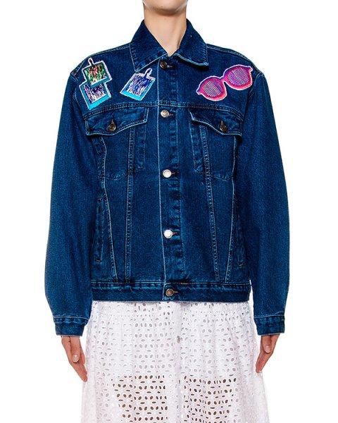 куртка из плотного денима с вышитым портретом Энди Уорхола на спине артикул SS16514andy марки KATЯ DOBRЯKOVA купить за 31300 руб.