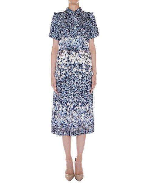 платье из мягкого шелка с цветочным рисунком артикул SS165287 марки Mother of Pearl купить за 62400 руб.