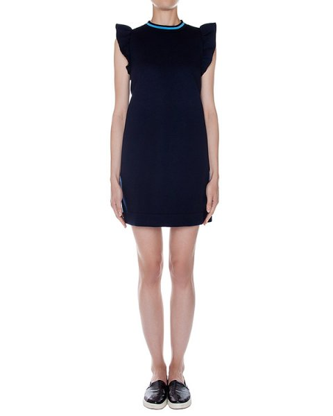 платье из трикотажа с оборками на плечах артикул SS165288 марки Mother of Pearl купить за 27000 руб.