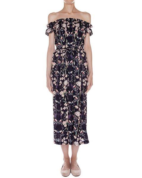 платье из легкого шелка с цветочным рисунком артикул SS165299 марки Mother of Pearl купить за 65600 руб.