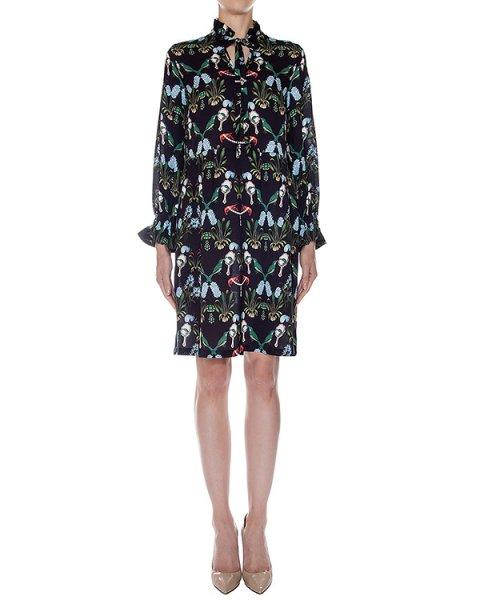 платье свободного кроя из легкого шелка с ярким рисунком артикул SS165302 марки Mother of Pearl купить за 53800 руб.