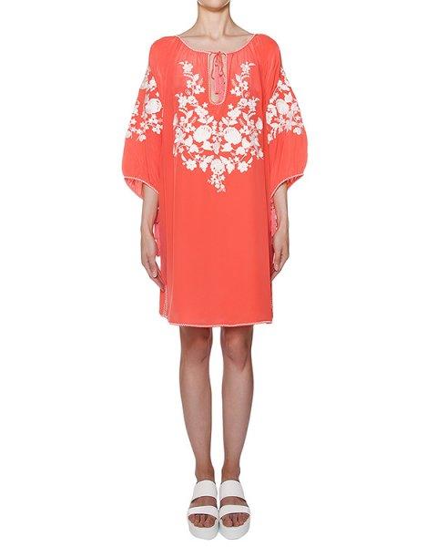 платье свободного кроя из легкого шелка с вышивкой артикул SUSINO720621 марки P.A.R.O.S.H. купить за 13000 руб.