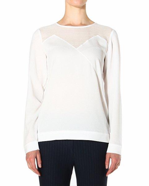 блуза прямого силуэта, со вставками из шелка на груди артикул SVC73474 марки TIBI купить за 13400 руб.