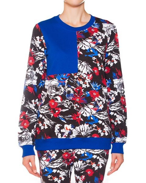 свитшот с ярким цветочным принтом артикул SW0169 марки Markus Lupfer купить за 6700 руб.