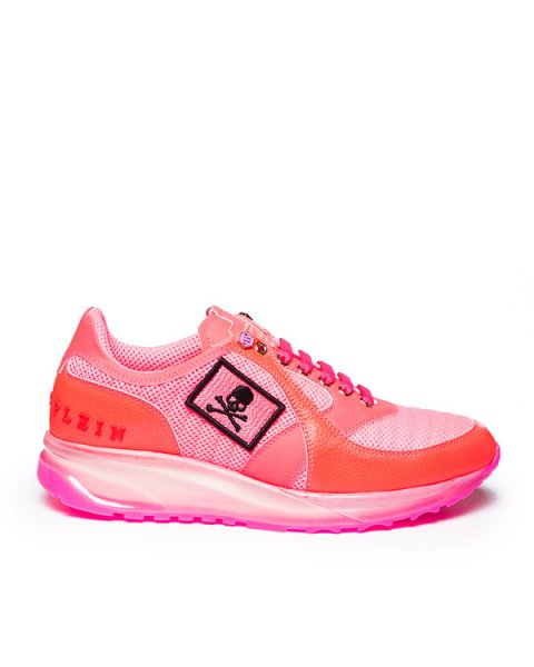 кроссовки из кожи  и текстиля с логотипом бренда артикул SW150496 марки PHILIPP PLEIN купить за 34300 руб.
