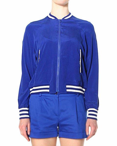 олимпийка из струящегося эластичного шелка с вертикальными карманами на молниях артикул SYRENE430518 марки P.A.R.O.S.H. купить за 14900 руб.