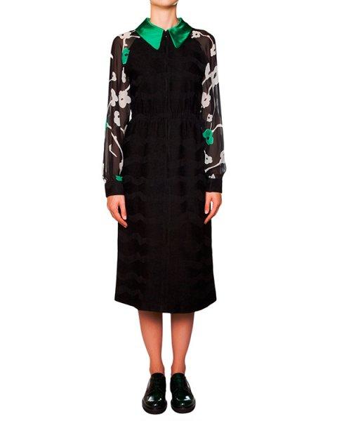платье с полупрозрачными шелковыми рукавами артикул TC59FH009 марки Tsumori Chisato купить за 39200 руб.