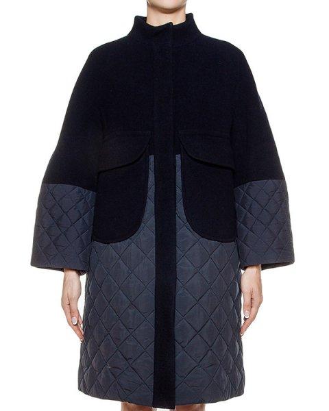 пальто комбинированное из шерсти и стеганой водоотталкивающей ткани артикул TC69FA005 марки Tsumori Chisato купить за 92600 руб.