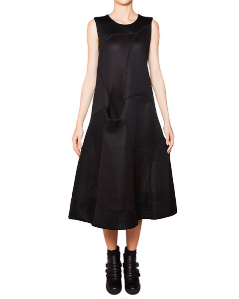 платье асимметричного кроя из плотной перфорированной ткани артикул TD0805 марки TOM REBL купить за 35000 руб.