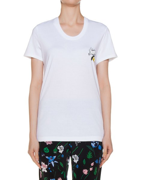 футболка из трикотажа с вышивкой артикул TP1049 марки Markus Lupfer купить за 10700 руб.