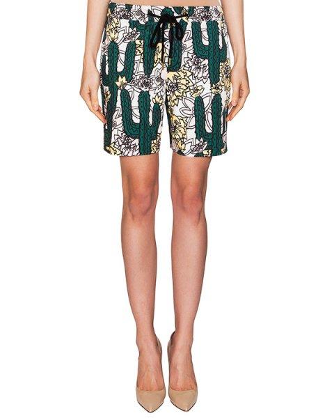 шорты из плотного хлопка с ярким принтом в виде кактусов артикул TP369 марки Markus Lupfer купить за 12500 руб.