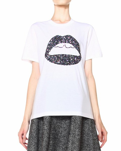 футболка расшитая пайетками артикул TP516 марки Markus Lupfer купить за 6850 руб.