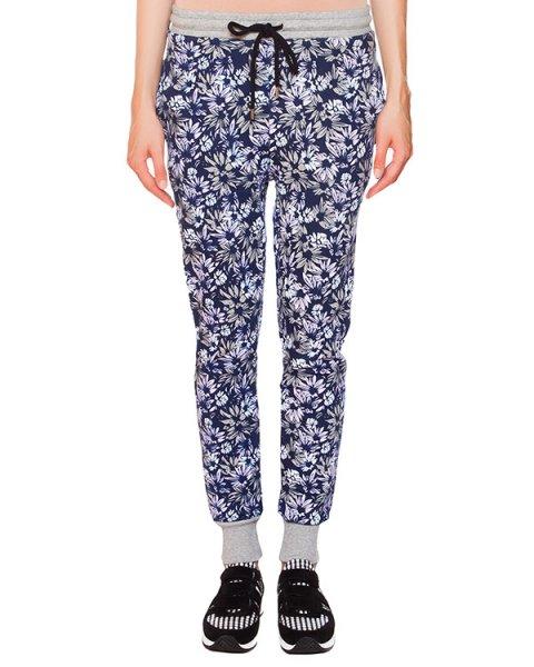 брюки в спортивном стиле с цветочным принтом артикул TR0322 марки Markus Lupfer купить за 7000 руб.