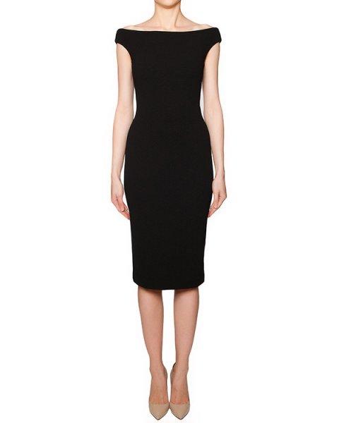 платье приталенного кроя из плотной ткани, декорировано широким вырезом, открывающим плечи артикул TR215VSC14214 марки TIBI купить за 20500 руб.