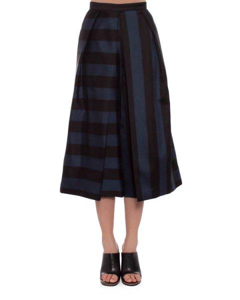 юбка-брюки сложного скульптурного кроя, с эффектным пересечением полос на ткани артикул TRE14ESG33249 марки TIBI купить за 32400 руб.