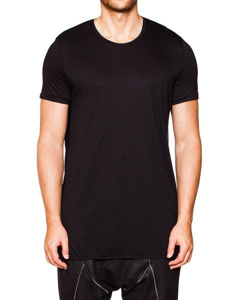 футболка оригинального кроя их мягкого трикотажа с драпировкой на спине артикул TU0634-2438 марки TOM REBL купить за 11200 руб.