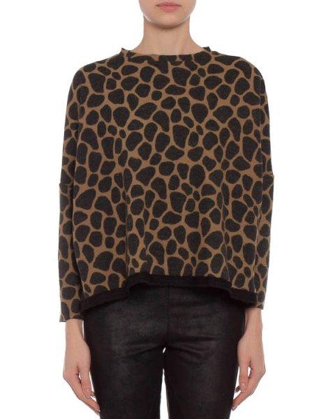 свитшот с ультра-модным леопардовым принтом артикул U53062770 марки Hache купить за 12000 руб.