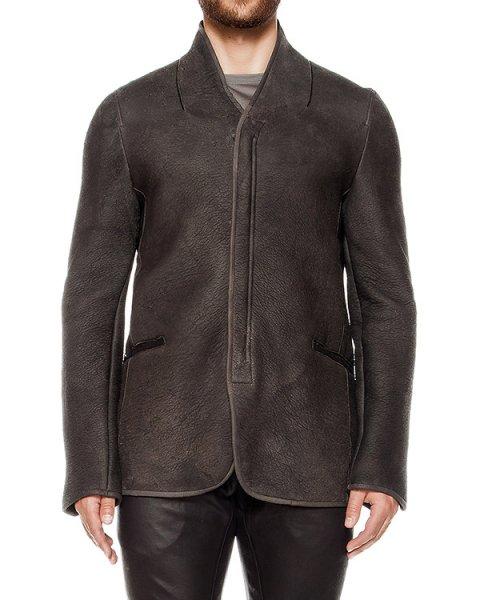 куртка из натуральной фактурной кожи и шерсти артикул UL03F16 марки Isabel Benenato купить за 140400 руб.