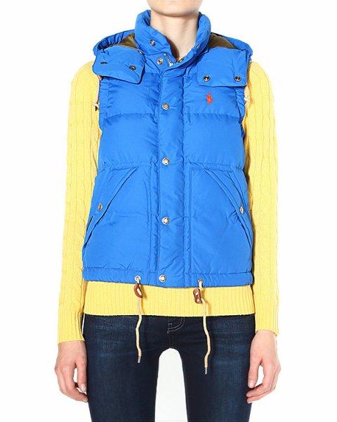 жилет утепленный, прямого силуэта, с диагональными карманами артикул V32IOELV марки Polo by Ralph Lauren купить за 13800 руб.