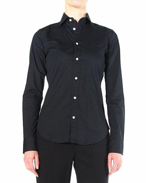 рубашка приталенная, с контрастными белыми пуговицами артикул V33IOKND марки Polo by Ralph Lauren купить за 4400 руб.