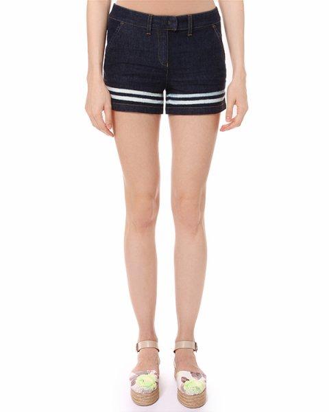шорты короткие из денима в морском стиле артикул V5P28 марки ARMANI JEANS купить за 5900 руб.