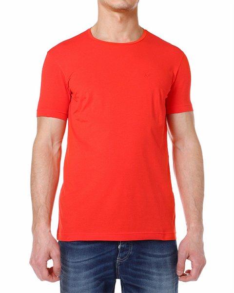футболка с коротким рукавом и круглым вырезом артикул V6H66 марки ARMANI JEANS купить за 2600 руб.