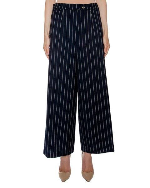 брюки из плотной ткани в полоску артикул VP430 марки VIVETTA купить за 10500 руб.