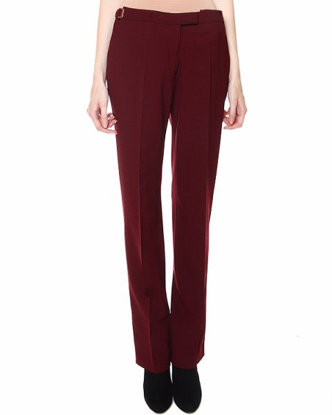 брюки из плотной шерсти, прилегающего силуэта артикул VPD205AVD001 марки Veronique Branquinho купить за 21300 руб.