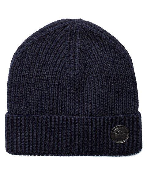 шапка вязаная с логотипом бренда артикул W16KH4003 марки DSQUARED купить за 5000 руб.