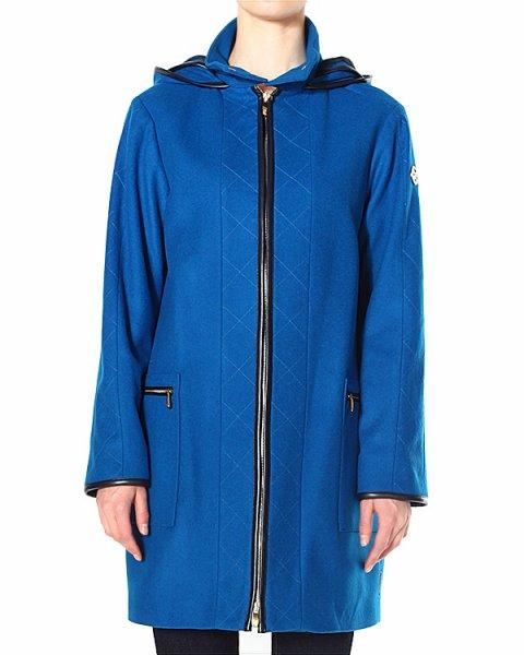 пальто прямого кроя, декорированное кантом из эко-кожи артикул Z5L02 марки ARMANI JEANS купить за 18500 руб.