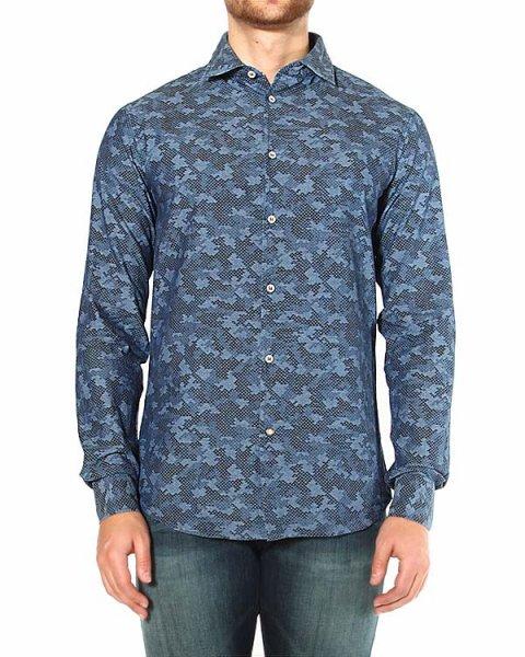 рубашка приталенного кроя, с логотипом бренда на спине артикул Z6C20 марки ARMANI JEANS купить за 5900 руб.
