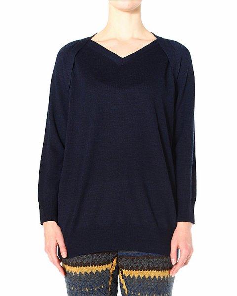 пуловер из тонкой шерсти асимметричной длины  артикул ZU49KN303 марки ZUCCA купить за 10000 руб.