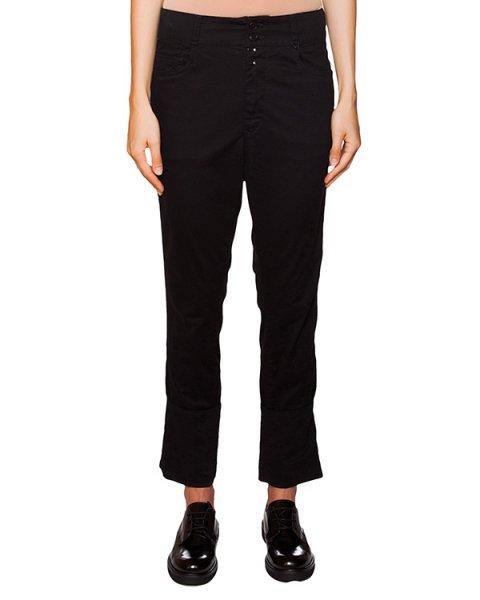 брюки из плотного хлопка с заниженной талией артикул ZU59FF088 марки ZUCCA купить за 12400 руб.