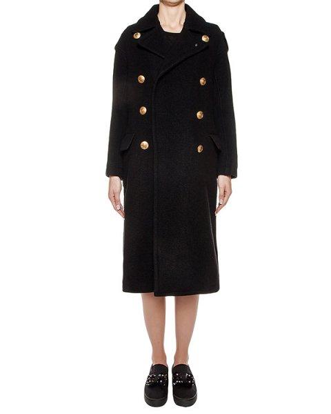 пальто двубортное из плотной шерсти артикул ZU69JA032 марки ZUCCA купить за 46000 руб.