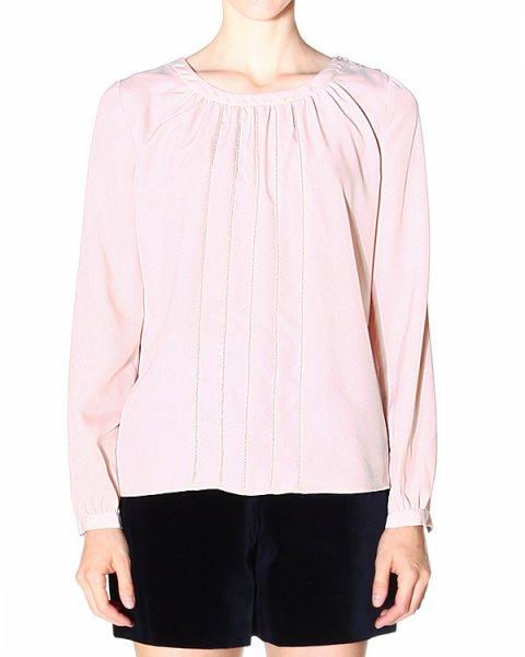 блуза прямого силуэта, из тонкой, струящейся ткани артикул ZWC03 марки ARMANI JEANS купить за 4900 руб.
